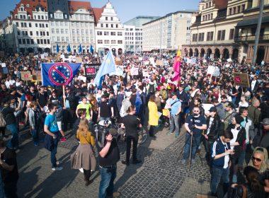 Demonstration gegen die geplante Urheberrechtsreform in Leipzig - Foto: Julian Kupfer