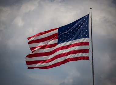 Eine wehende US-Flagge