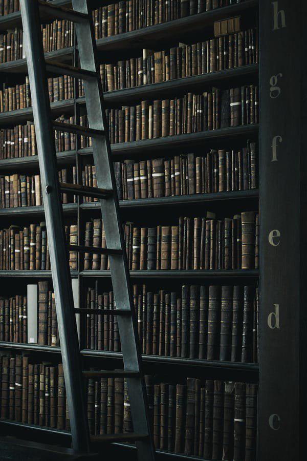 Bibliothek, düster