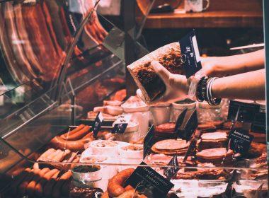 Verkaufsraum einer Metzgerei
