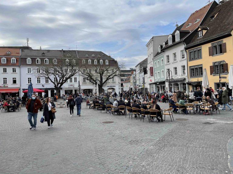 Der Sankt Johanner Markt in Saarbrücken