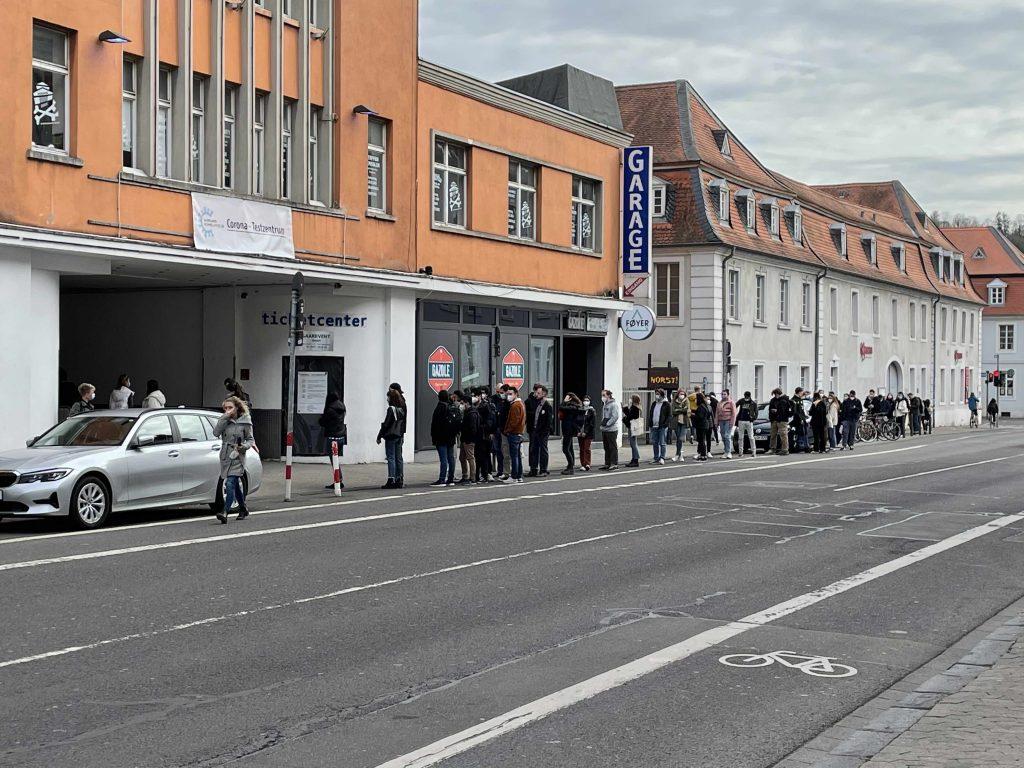 Testzentrum in Saarbrücken