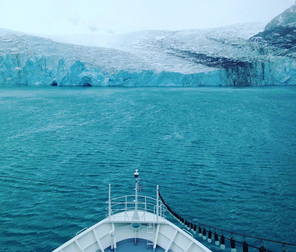 Blick auf einen der zahlreichen Gletscher Südgeorgiens