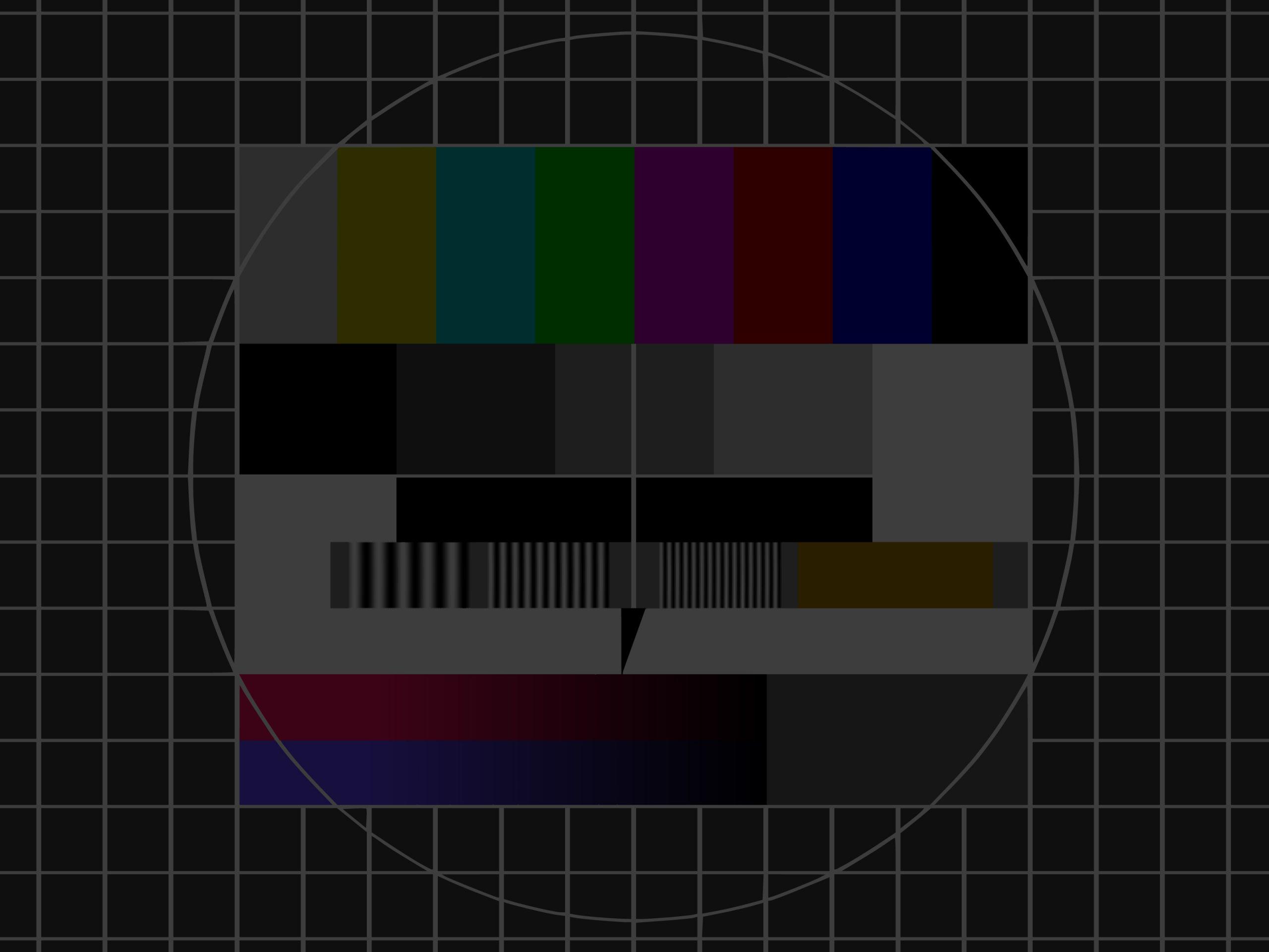 abgedunkeltes Fernsehtestbild